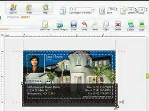 Online Design Center - Adjusting Opacity