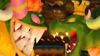 Bowser's Woman and Green Bowser in New Super Mario Bros. Wii