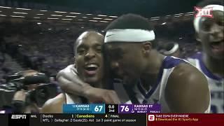 Kansas vs Kansas State Men's Basketball Highlights