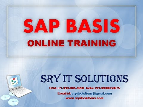 SAP BASIS ONLINE TRAINING | BASIS PROJECT SUPPORT | BASIS LIVE DEMO | BASIS OVERVIEW