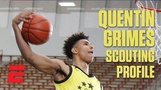 Quentin Grimes preseason 2019 NBA draft scouting video | DraftExpress