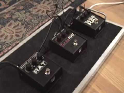 ProCo Rat distortion pedal shootout Turbo Rat You Dirty Rat & Rat 2 w Les Paul & Blues Jr amp
