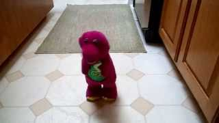 DINO DANCE BARNEY DANCES SPINS AND HOPS UP & DOWN!