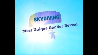 Most Unique Gender Reveal Idea: Skydiving