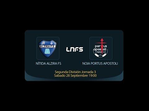 Nítida Alzira FS -  Noia Portus Apostoli - Segunda División Jornada 3 - Temporada 2019/2020