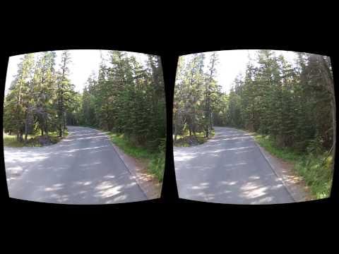 Oculus Rift 3D Gopro movie - Canada 04 Banff Golf Road