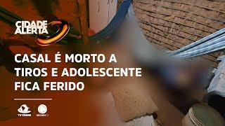 Casal é morto a tiros e adolescente fica ferido em Aracoiaba