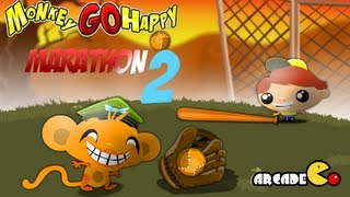 Monkey GO Happy Marathon 2 Walkthrough All Levels HD