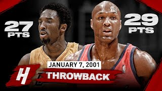 When Lamar Odom SHOWED OFF Against Kobe & the Lakers! SICK Duel Highlights | January 7, 2001