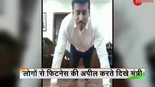 Watch: Union Minister Rajyavardhan Singh throws fitness ch..