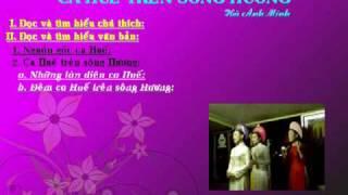 Ngu van 7:Ca Hue tren song Huong(gv:Do Thanh Loan)
