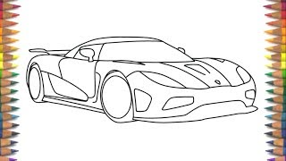 how to draw a lamborghini step by step for kids