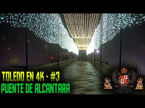 Toledo en 4K - #3 - Puente de Alcantara con Niebla