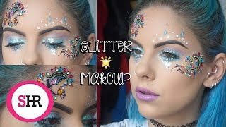Festival Glitter Makeup Tutorial   Sophie Hannah Richardson