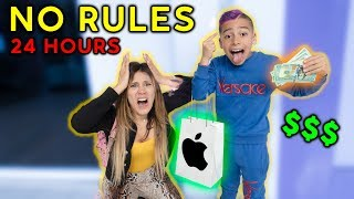 NO RULES For 24 Hours! *Gone Too Far* | The Royalty Family