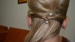 Easy Updo For Medium Long Hair Coafura Ocazie Par Mediu Youtube