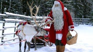 Santa Claus Village in 4K - Rovaniemi Lapland Finland - kids meet Father Christmas