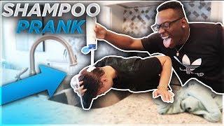SHAMPOO PRANK ON WIFE!! **she freaked out**