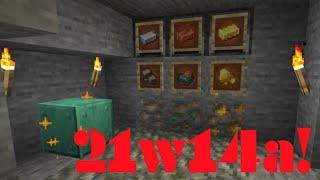 Minecraft 21w14a je tu! | Raw Metal a Waxed Oxidized Copper!