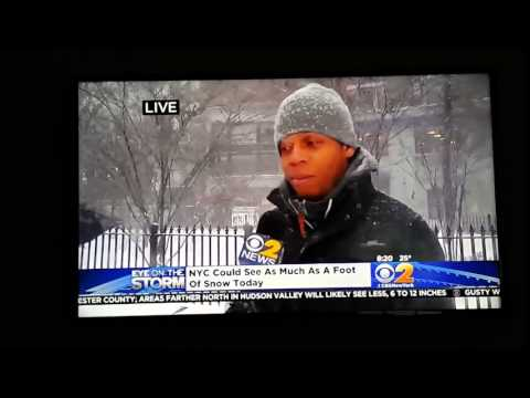 Guy Tells CBS News Reporter What His Plans Are For The Rest Of The Blizzard 'Netflix And Chill Baby'