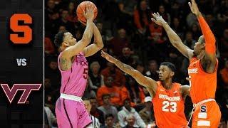 Syracuse vs. Virginia Tech Basketball Highlights (2018-19)