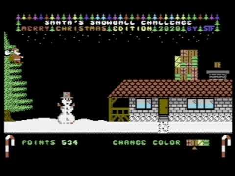 Santas Snowball Challenge 2020 p/ Commodore 64 - Review por RETROJuegos