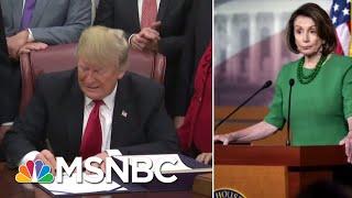 President Donald Trump Postpones Nancy Pelosi's Foreign Trip Until Shutdown Ends | Katy Tur | MSNBC