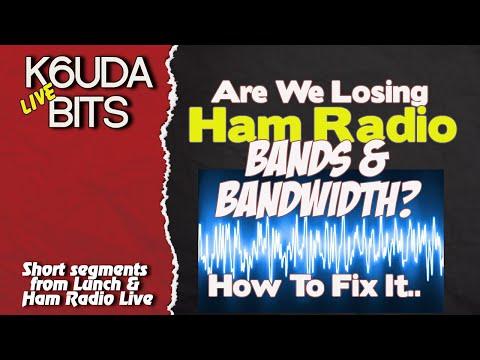 Are we Loosing Ham Radio Bandwidth? K6UDA Bits