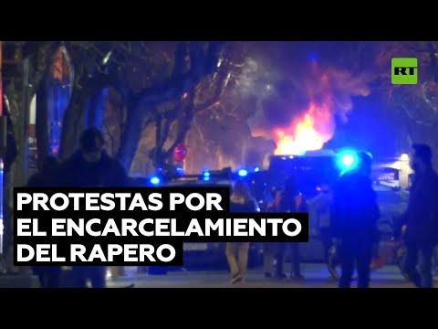 Enfrentamientos en el séptimo día de protestas contra la detención del rapero