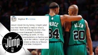 Ray Allen's Instagram post make up for missing Paul Pierce's jersey retirement? | The Jump | ESPN