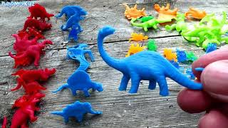 Learn Colors With Dinosaurs Best Learning Colours Video For Children Dino Animals Toys Kids Toddlers