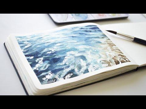 Painting Water // Sketchbook Process