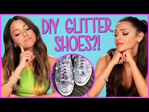DIY Glitter Sneakers?! | Niki And Gabi DIY or DI-Don't