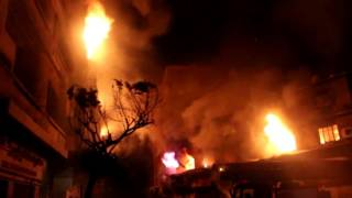 شهود عيان على حريق العتبة: الحريق من منتصف الليل     -