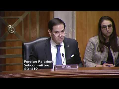 Rubio makes the case for U.S. leadership in support of democracy and human rights