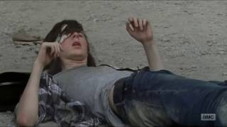 The Walking Dead 7x07 Carl Kills Two Of Negan's Men