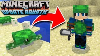 How to Craft SECRET TURTLE ARMOR in Minecraft UPDATE! 1.3 Aquatic Update (Pocket Edition, Xbox, PC)