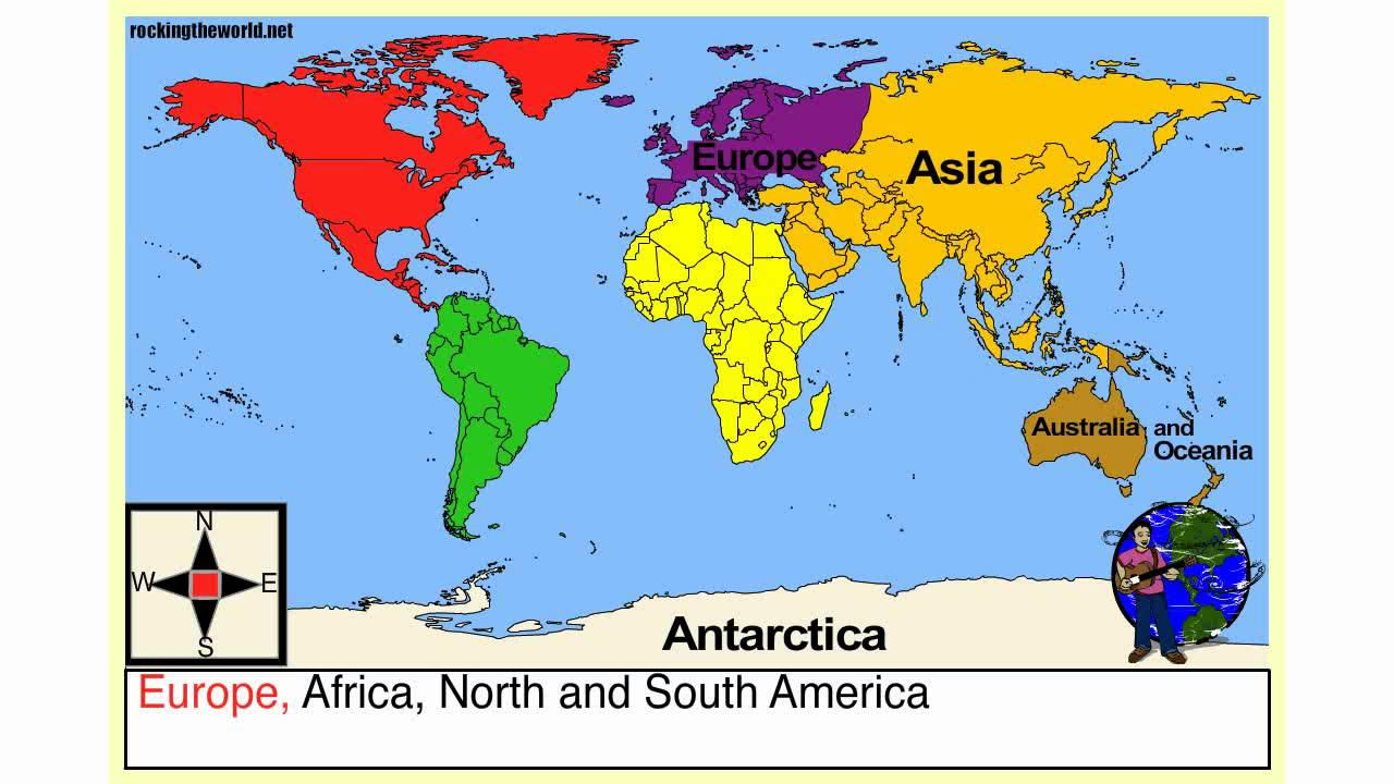 what is the name of the 7 continents