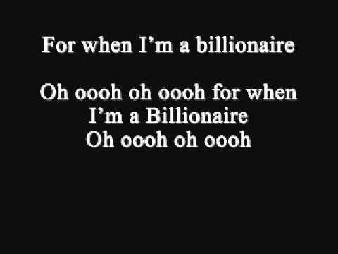 Glee - Billionaire lyrics