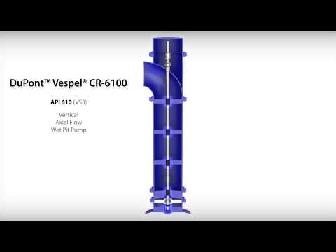 DuPont™ Vespel® CR-6100 Wear Rings in API610 (VS3) Vertical, Axial Flow, Wet Pit Pump