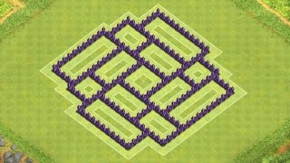 Clash of Clans Town Hall 7 Defense (CoC TH7) BEST Trophy Base Layout Defense Strategy