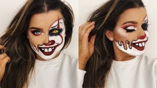 MELTED PENNYWISE CLOWN HALLOWEEN MAKEUP TUTORIAL! | Rachel Leary