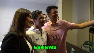 Tour Of Manny Pacquiao Locker Room For Thurman Fight EsNews Boxing
