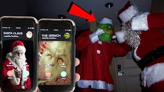 CALLING SANTA CLAUS AND THE GRINCH ON FACETIME AT THE SAME TIME AT 3AM | SANTA CLAUS VS THE GRINCH!