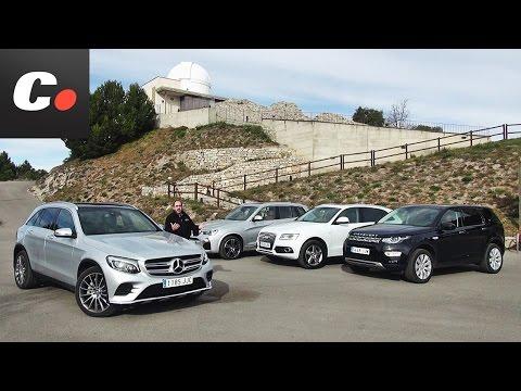 Mercedes GLC, BMW X3, Land Rover Discovery Sport, Audi Q5 | Prueba SUV 4x4 en español | coches.net