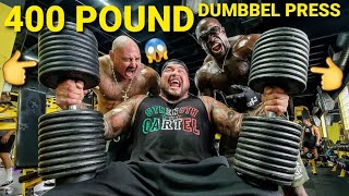 400 POUND DUMBBELL PRESS - BIG BOY & KALI MUSCLE SLAPPED A GIRLS BUTT... The FAMILY PROJECT