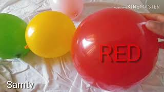 Play with balloon and learn colors  Finger family nursery rhyme for Children Toddlers and babies`