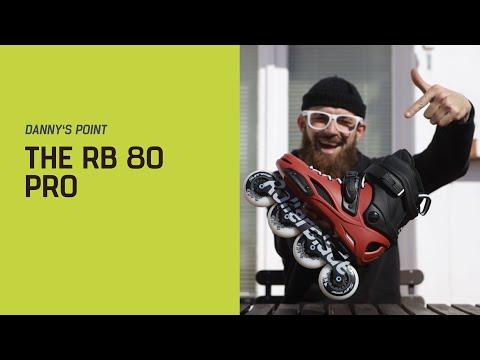Video ROLLERBLADE Roller freeskate RB 80 2018 Noir jaune