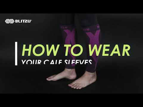 Blitzu - How to wear your calf sleeves