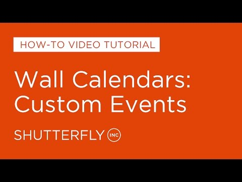 Wall Calendars: Custom Events